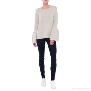 NEW French Connection stretchy bell sleeve sweater